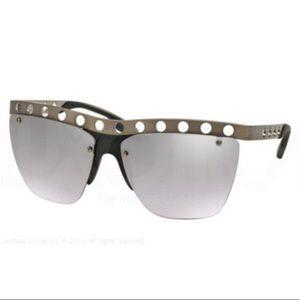 Prada sunglasses silver metal frame